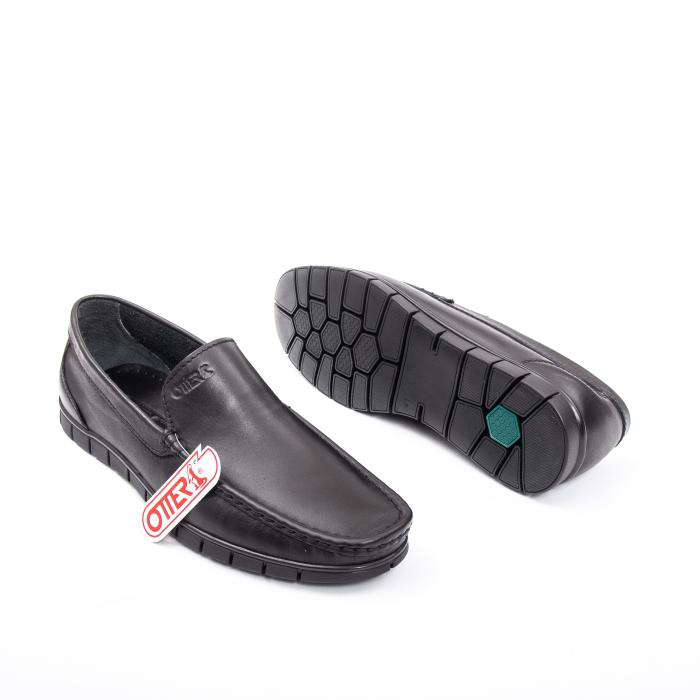 Pantofi barbati casual piele naturala Otter 3206 negru 3