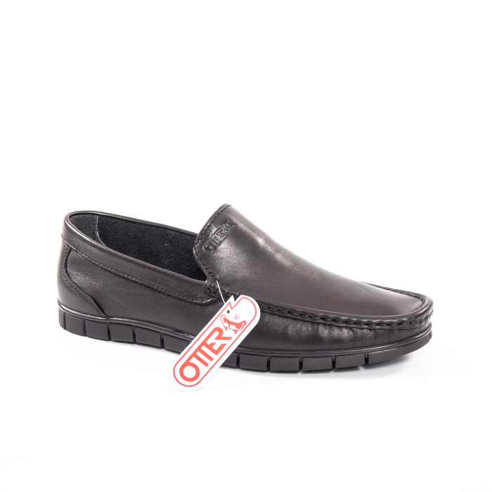 Pantofi barbati casual piele naturala Otter 3206 negru 0