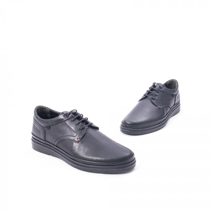 Pantofi casual barbat din piele naturala Otter 5318 negru 1