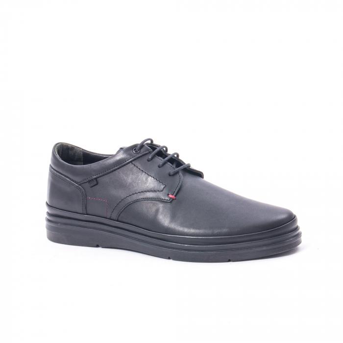 Pantofi casual barbat din piele naturala Otter 5318 negru 0