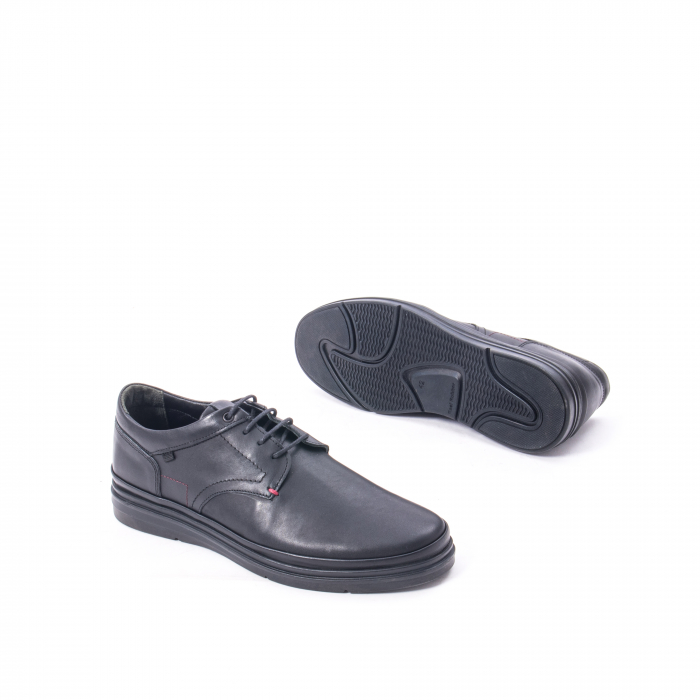 Pantofi casual barbat din piele naturala Otter 5318 negru 3
