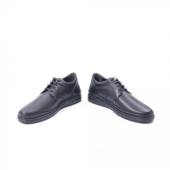Pantofi casual barbat din piele naturala Otter 5318 negru 4
