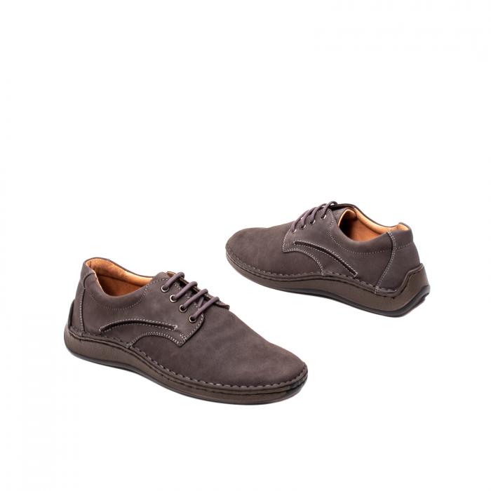 Pantofi  barbati casual, piele naturala nubuc, LFX 918 G 2