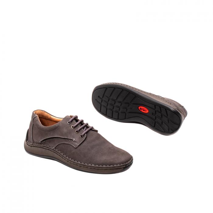 Pantofi  barbati casual, piele naturala nubuc, LFX 918 G 3