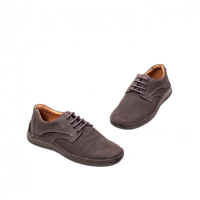 Pantofi  barbati casual, piele naturala nubuc, LFX 918 G 1