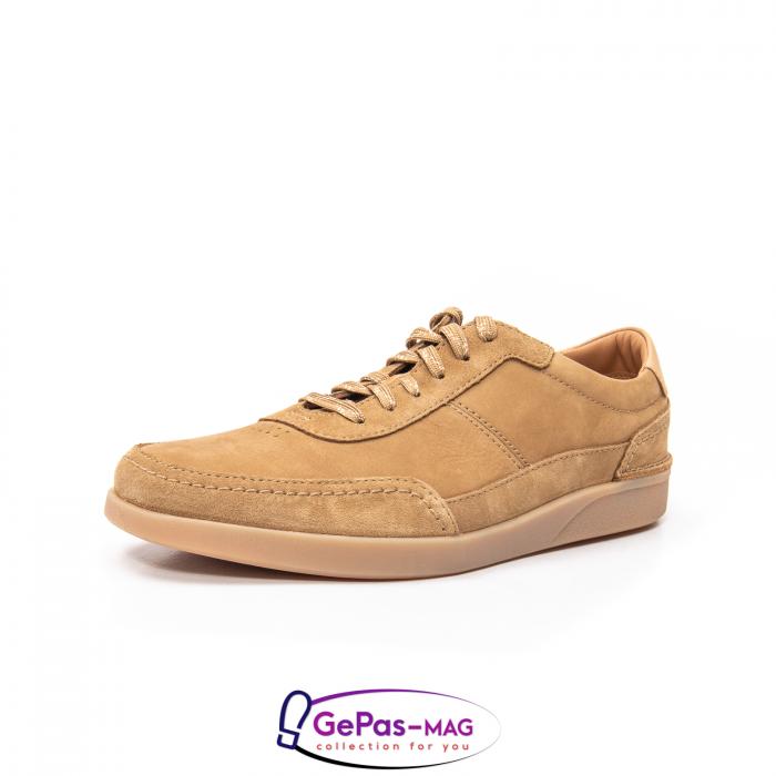 Pantofi casual barbat Oakland Run CL26154057, piele naturala nubuc 0