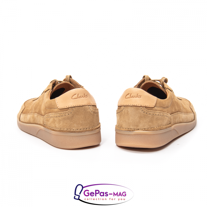 Pantofi casual barbat Oakland Run CL26154057, piele naturala nubuc 4