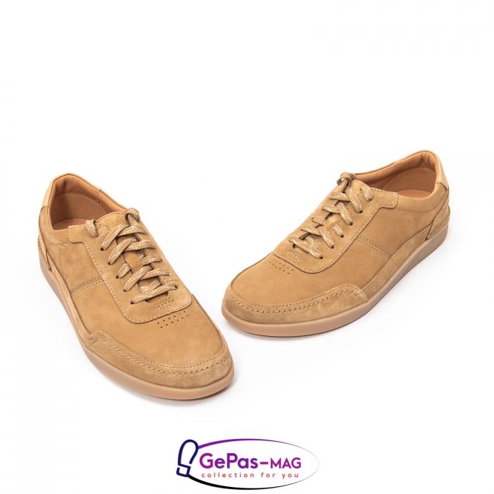 Pantofi casual barbat Oakland Run CL26154057, piele naturala nubuc 1