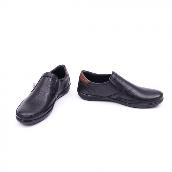 Pantofi barbati casual piele naturala Otter 220, negru 4