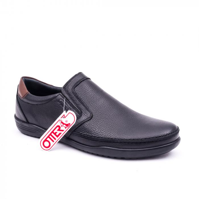 Pantofi barbati casual piele naturala Otter 220, negru 0