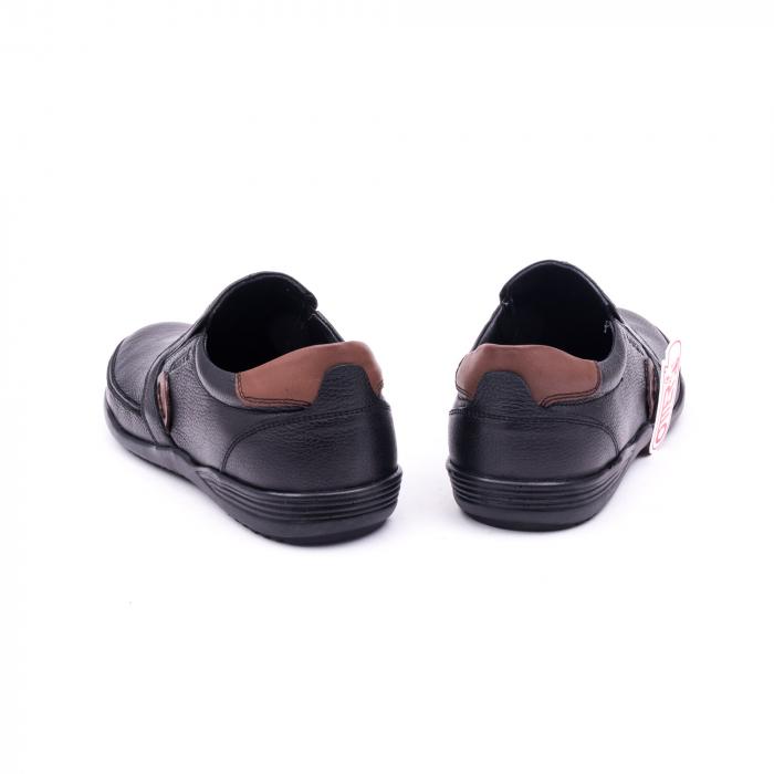 Pantofi barbati casual piele naturala Otter 220, negru 6