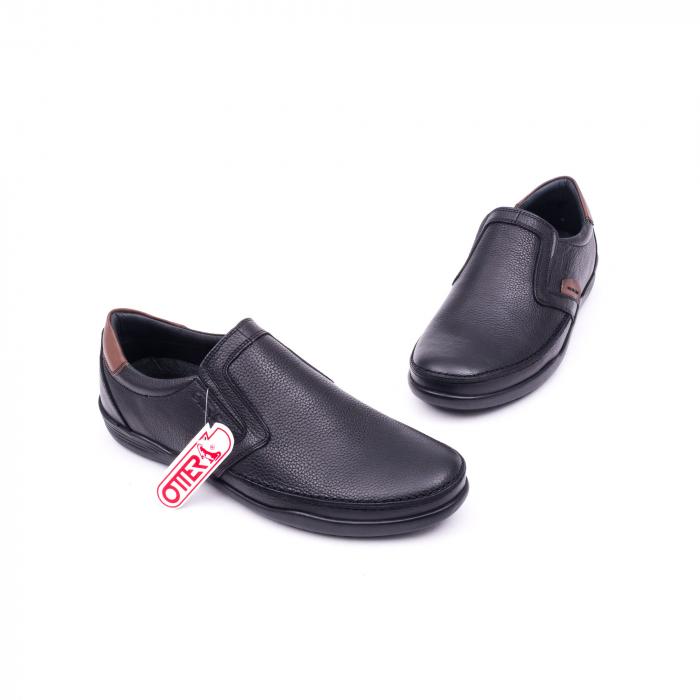 Pantofi barbati casual piele naturala Otter 220, negru 1