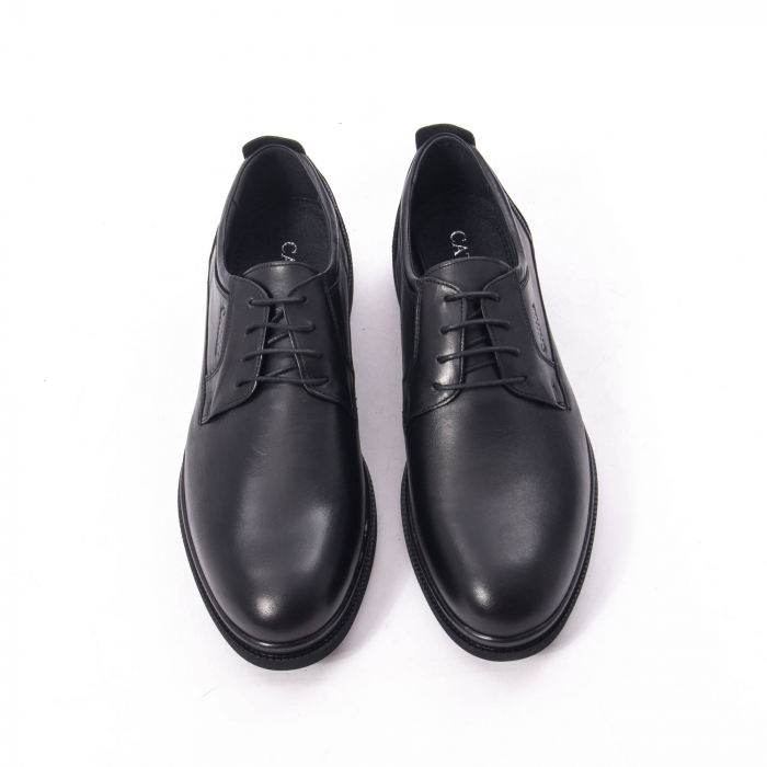 Pantofi casual barbat,piele naturala Catali 172568,negru 5