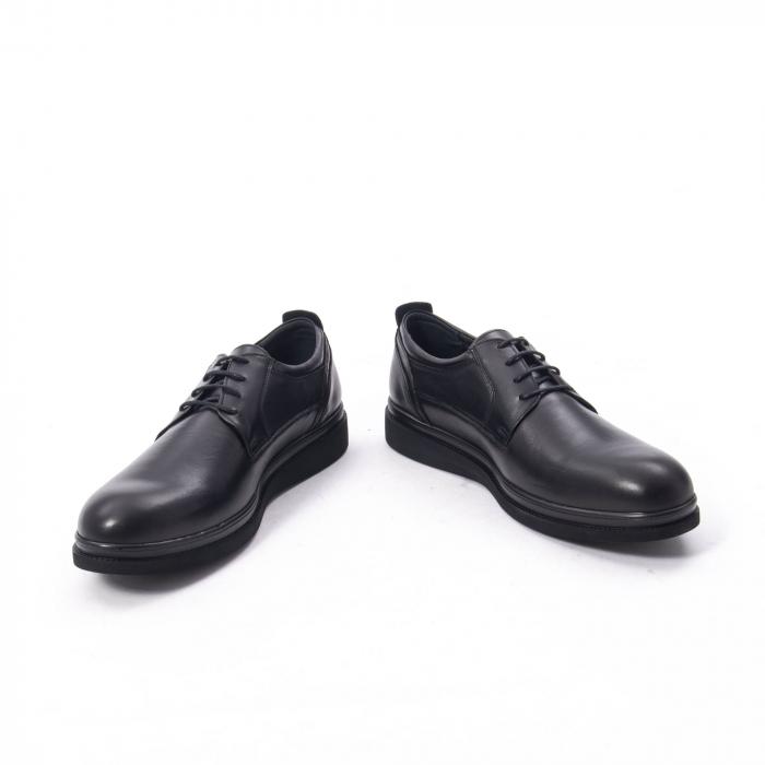 Pantofi casual barbat,piele naturala Catali 172568,negru 4