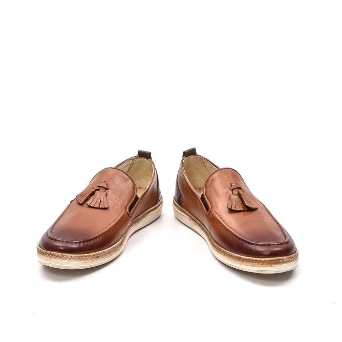Pantofi barbati casual, piele naturala, 191544STAR, coniac 4