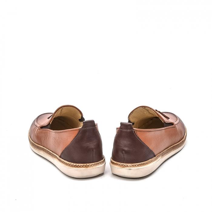 Pantofi barbati casual, piele naturala, 191544STAR, coniac 6