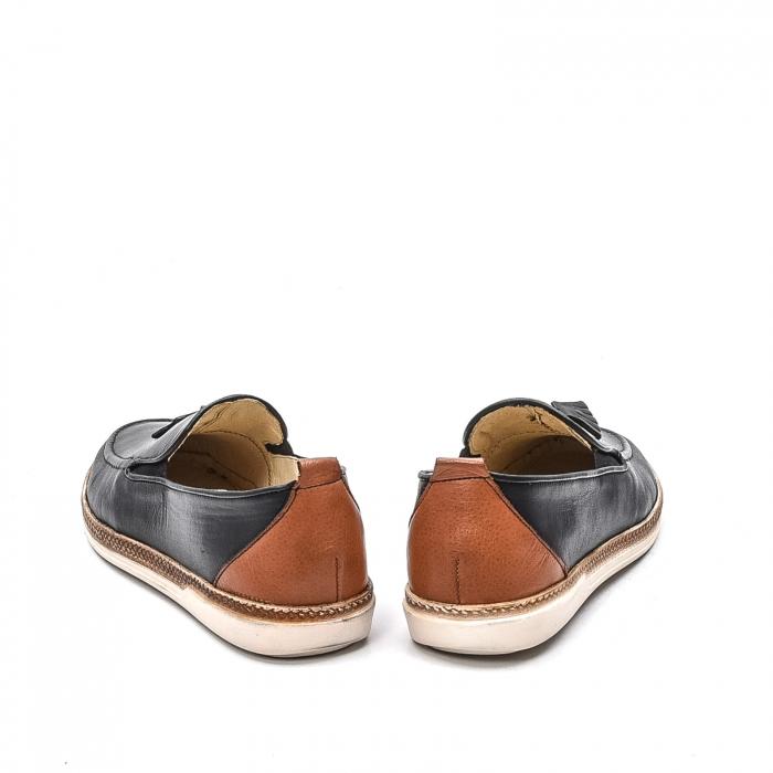 Pantofi barbati casual din piele naturala, 191544STAR, negru 6