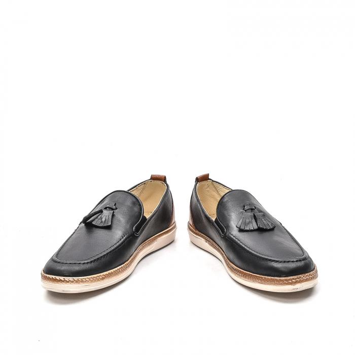 Pantofi barbati casual din piele naturala, 191544STAR, negru 4