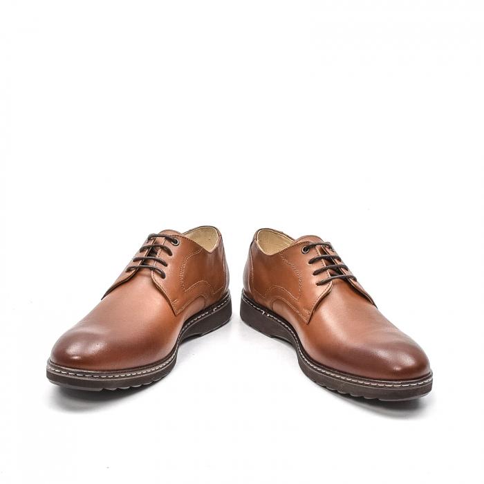 Pantofi barbati casual din piele naturala, 201567NP, maro 4