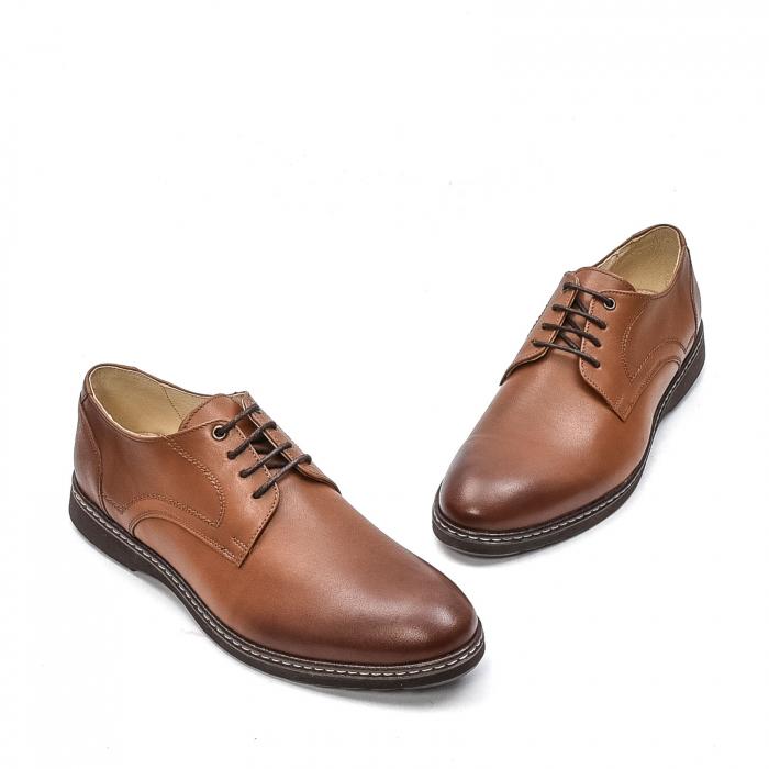 Pantofi barbati casual din piele naturala, 201567NP, maro 1
