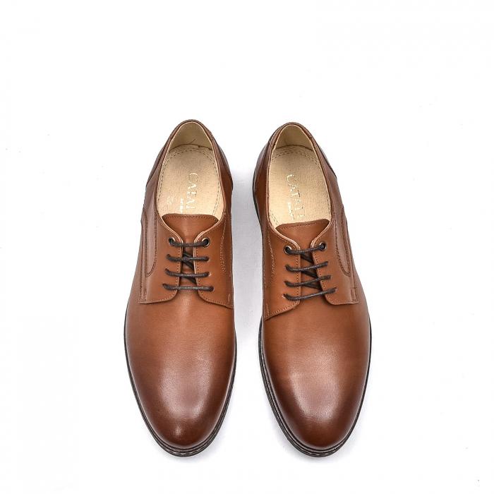 Pantofi barbati casual din piele naturala, 201567NP, maro 5