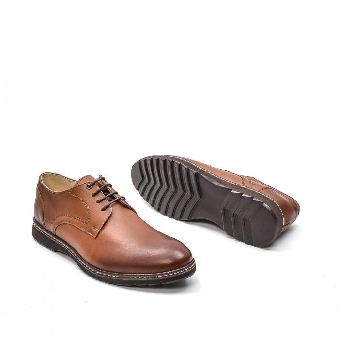 Pantofi barbati casual din piele naturala, 201567NP, maro 3