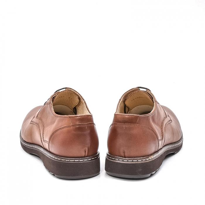 Pantofi barbati casual din piele naturala, 201567NP, maro 6