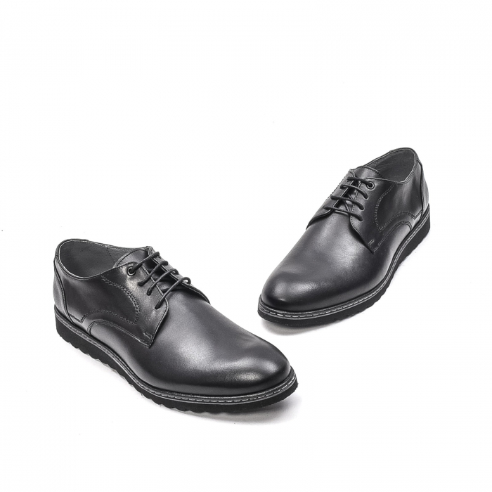 Pantofi barbati casual din piele naturala, 201567NP, negru 1