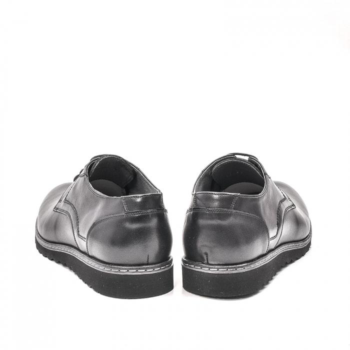 Pantofi barbati casual din piele naturala, 201567NP, negru 6
