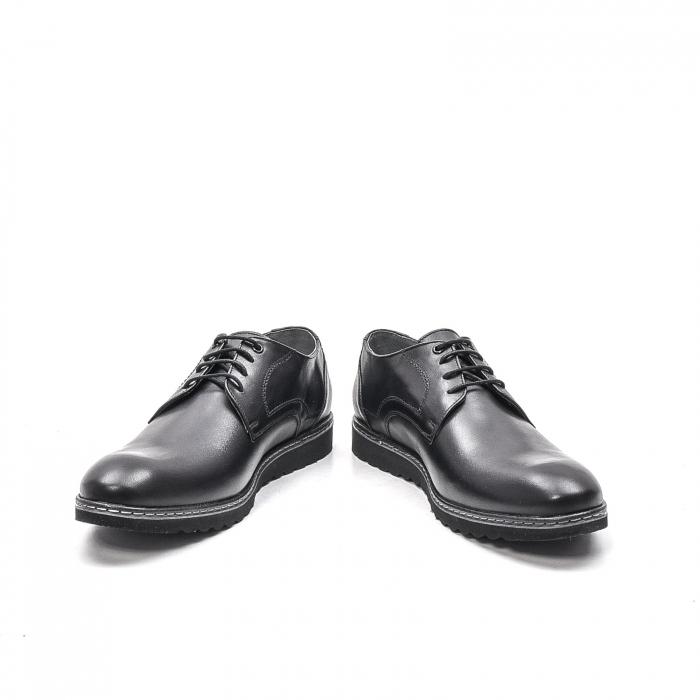 Pantofi barbati casual din piele naturala, 201567NP, negru 4