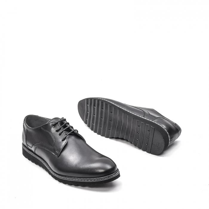 Pantofi barbati casual din piele naturala, 201567NP, negru 3