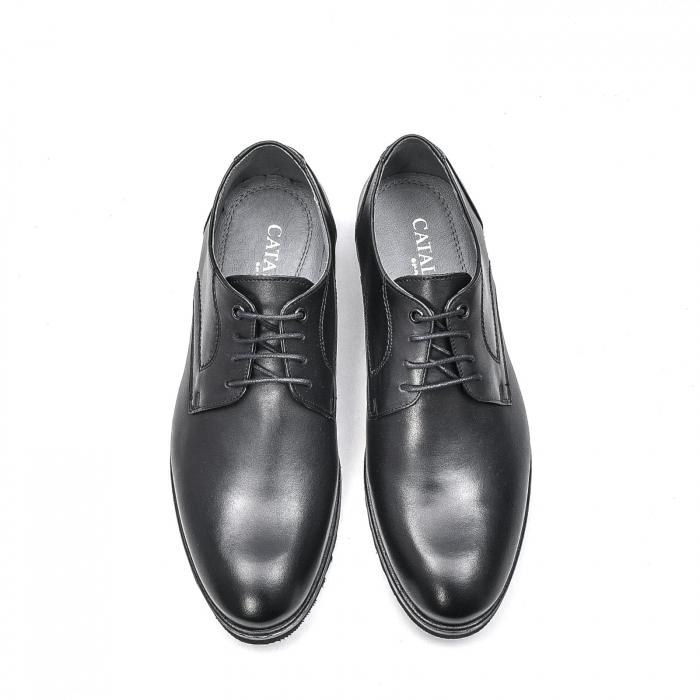 Pantofi barbati casual din piele naturala, 201567NP, negru 5