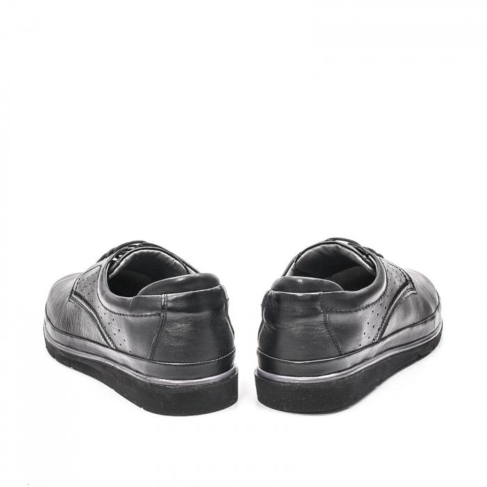 Pantofi barbati casual din piele naturala, 201569NP, negru 6