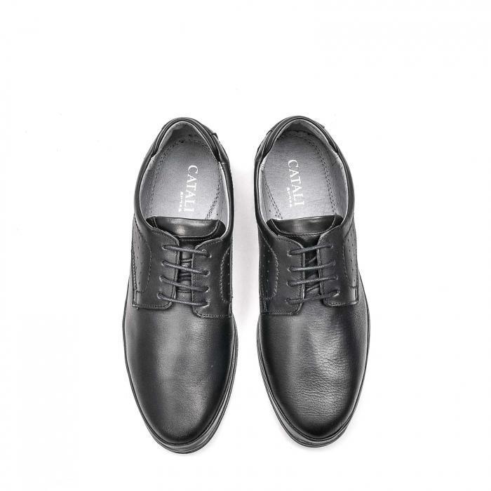 Pantofi barbati casual din piele naturala, 201569NP, negru 5