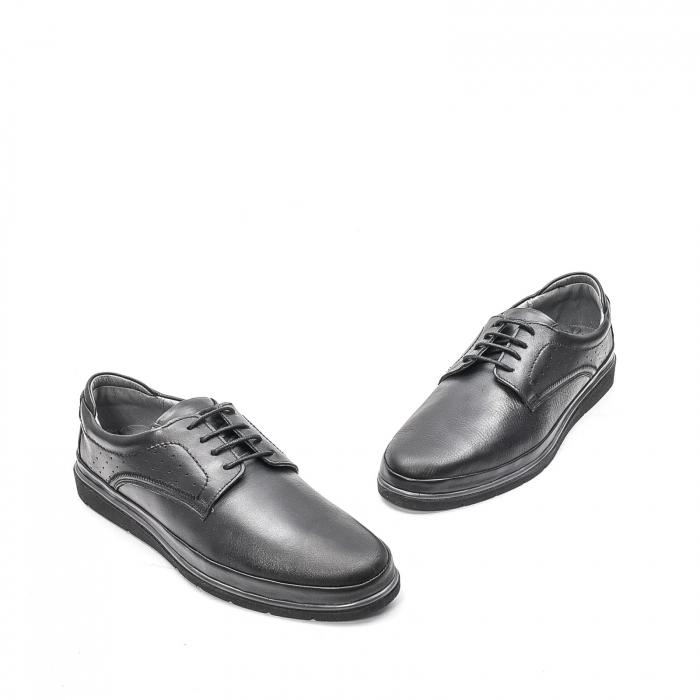 Pantofi barbati casual din piele naturala, 201569NP, negru 1