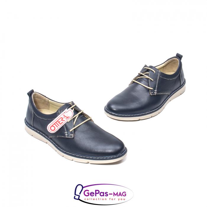 Pantofi casual barbat, piele naturala, 5930 bleumarin 1
