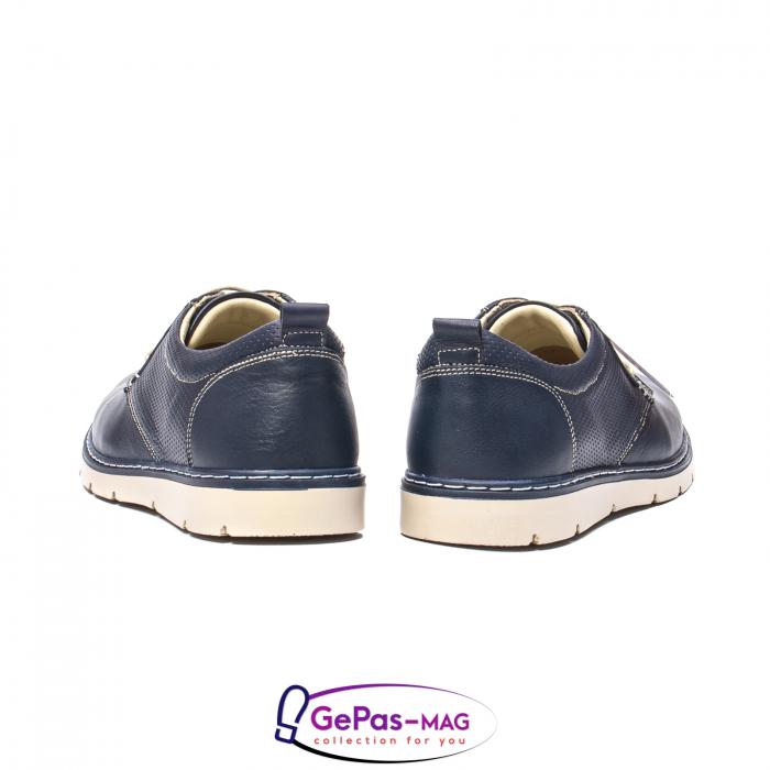 Pantofi casual barbat, piele naturala, 5930 bleumarin 6
