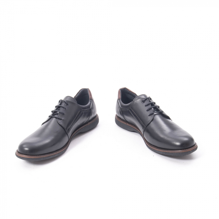 Pantofi casual barbat piele naturala, Catali 182505 negru 4