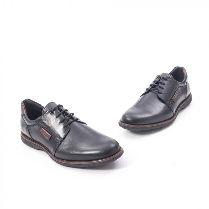 Pantofi casual barbat piele naturala, Catali 182505 negru 1