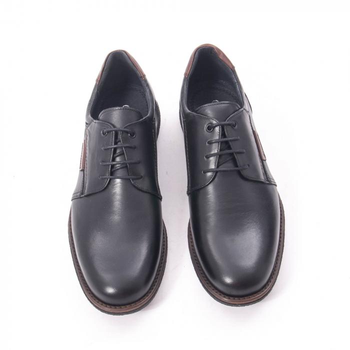 Pantofi casual barbat piele naturala, Catali 182505 negru 5