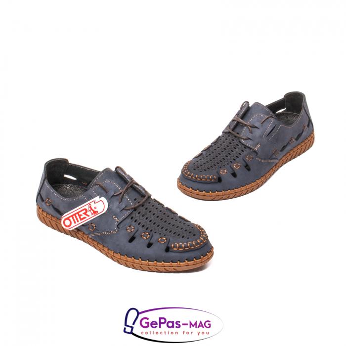 Pantofi casual barbat, piele naturala nubuc, OJ2911-133 42-2 1
