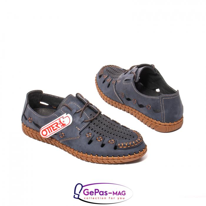 Pantofi casual barbat, piele naturala nubuc, OJ2911-133 42-2 2