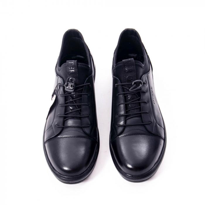 Pantofi casual barbat, piele naturala, Otter QRA42617 01-N negru 5