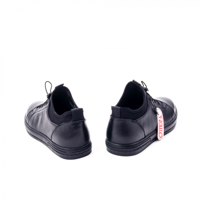 Pantofi casual barbat, piele naturala, Otter QRA42617 01-N negru 6