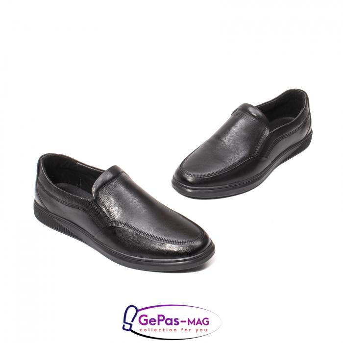 Pantofi barbati mocasin, piele naturala, QRB017313 [3]