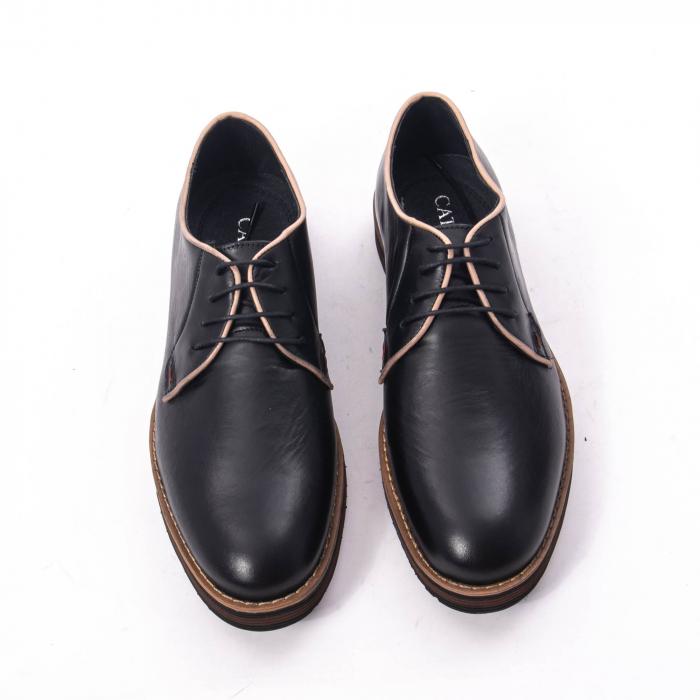 Pantofi casual barbati din piele naturala, Catali 505, negru 5