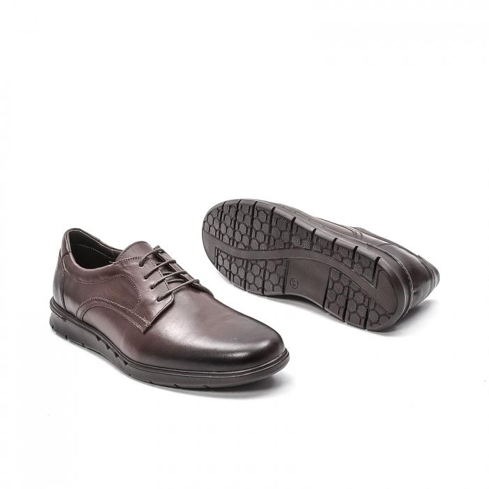 Pantofi barbati casual din piele naturala, 181585CR, maro 3