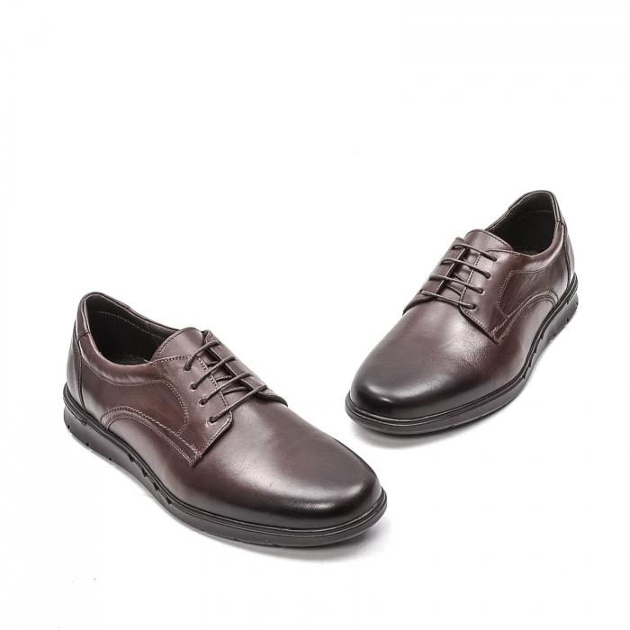 Pantofi barbati casual din piele naturala, 181585CR, maro 1