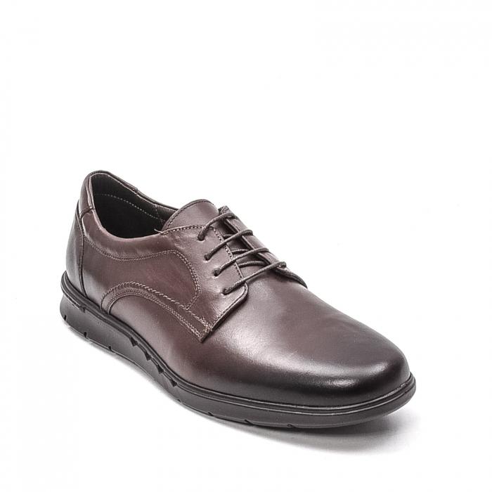 Pantofi barbati casual din piele naturala, 181585CR, maro 0