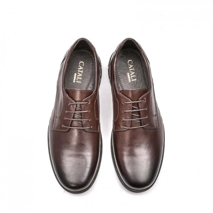 Pantofi barbati casual din piele naturala, 181585CR, maro 5